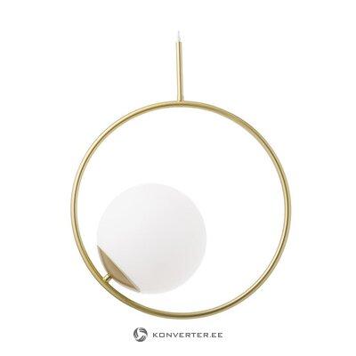 Золотисто-белый подвесной светильник (хлоя) (целиком)