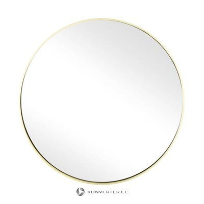 Round wall mirror with gold frame (ada)