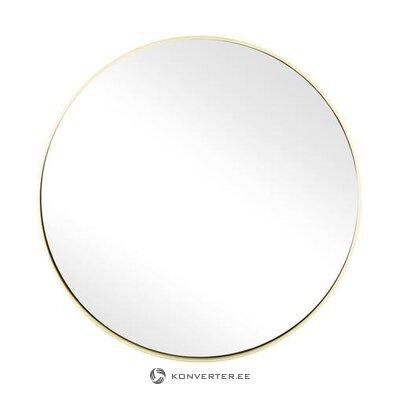 Apaļais sienas spogulis ar zelta rāmi (ada) (neskarts zāles paraugs)
