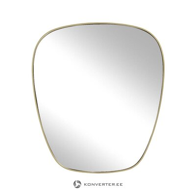 Oval wall mirror with gold frame (antje)