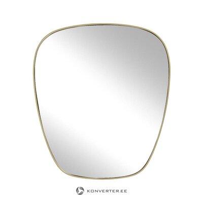 Овальное настенное зеркало с золотой рамой (antje)