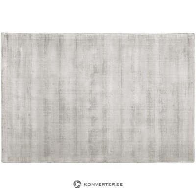 Light gray-beige hand-woven viscose carpet (jane)