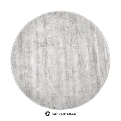 Light gray-beige round viscose carpet (jane) (whole, in a box)