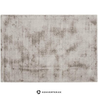 Gray-brown viscose carpet (jane) (beauty defect, hall sample)