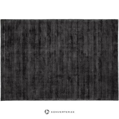 Anthracite-black viscose carpet (jane) (whole, in a box)