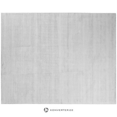Gray hand-woven viscose carpet (jane) (whole, in a box)
