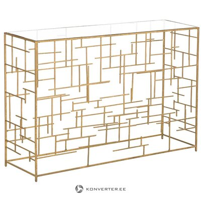 Золотой консольный стол (нола)