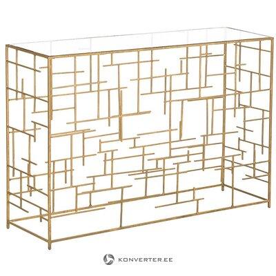 Gold console table (nola)
