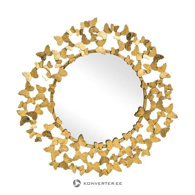Gold frame decorative wall mirror (butterfly)