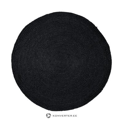 Black round carpet (sharmila) (in box, whole)