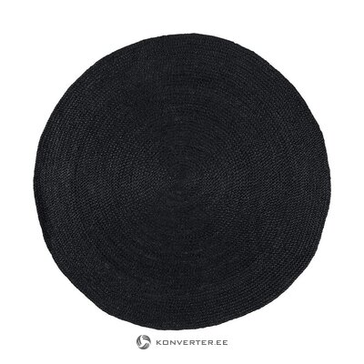 Black round carpet (charmed) ((in box, whole)