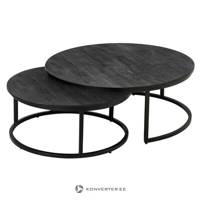 Black mango wooden coffee table set (andrew) (hall sample, whole)