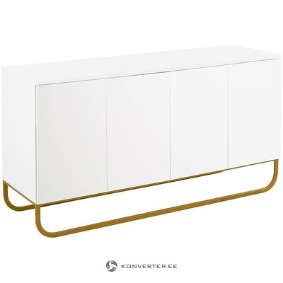 White design chest of drawers (sanford) (hall sample, whole)