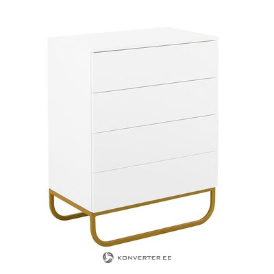 White-gold chest of drawers (sanford)