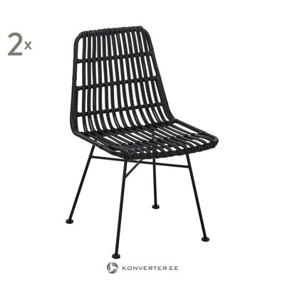 Black rattan chair (costa)
