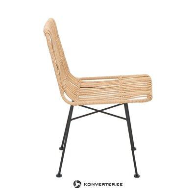 Светло-коричнево-черный стул ронтанг (коста) (целиком, в коробке)