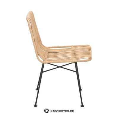 Light brown-black rontang chair (costa) (whole, hall sample)