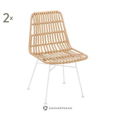 Šviesiai ruda rotango kėdė (costa) (su grožio defektais. Salės pavyzdys)