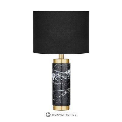Настольная лампа черно-золотая (миранда) (целиком, в коробке)