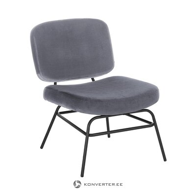 Gray-black velvet chair (malt) (whole, in box)