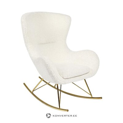 Creamy rocking chair (teddy)