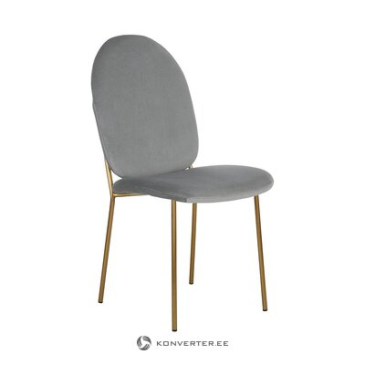 Gray-golden velvet chair (mary)