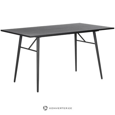 Melns pusdienu galds (džette) (vesels, kastē)