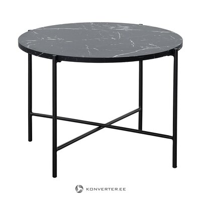 Black coffee table with marble imitation (fria) (with flaws., Hall sample)