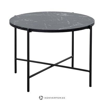 Стол журнальный черный с имитацией мрамора (фрия) (цельный)