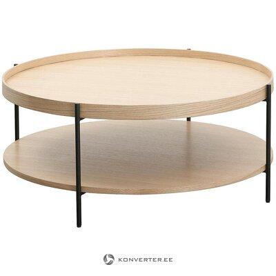 Apvalus šviesiai rudos kavos staliukas (renee)