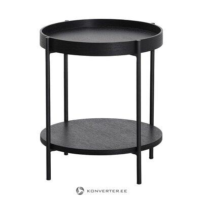 Black round coffee table (renee)