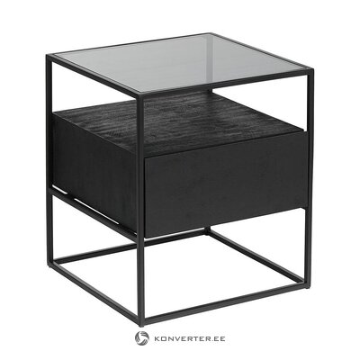 Black bedside table (theodor) (whole, in box)