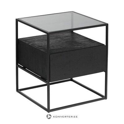 Тумбочка черная (теодор) (целиком, в коробке)