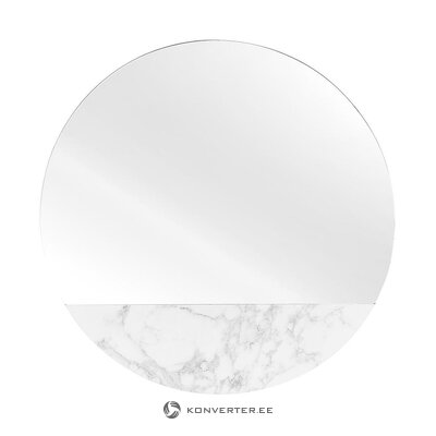 Round mirror with marble imitation (stockholm) (with flaws. Hall sample)