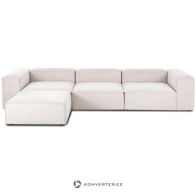 Light gray large module corner sofa bed (flight) (hall sample, whole)