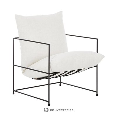 Armchair with metal frame (wayne) (whole, hall sample)