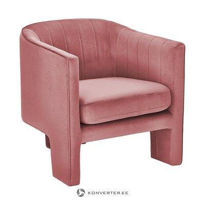 Tummanpunainen samettinen nojatuoli (emilie) (kokonainen, laatikossa)