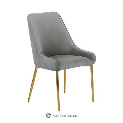 Pilkai aukso aksomo kėdė (atidarymas)