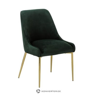 Dark green velvet chair