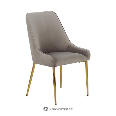 Gray-golden velvet chair (aperture) (hall sample, with beauty defect,)