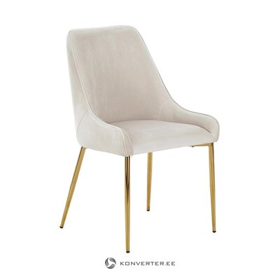 Gray-golden velvet chair (aperture) (with flaws hall sample)