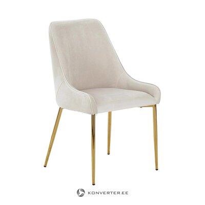 Pelēks-zeltains samta krēsls (diafragma) (ar nepilnībām, zāles paraugs)