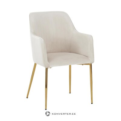 Beige-gold velvet chair (opening) (whole, in box)