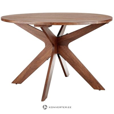 Round mango dining table (macy) (with beauty defects., Hall sample)