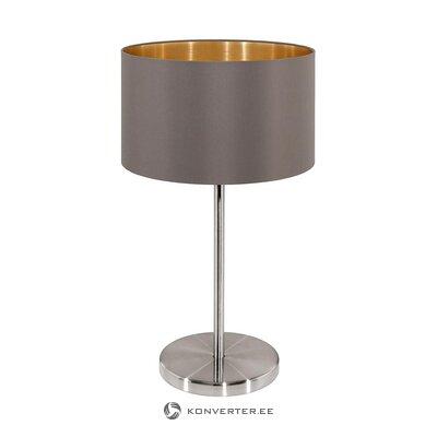 Pilkai sidabrinė stalo lempa (miraluz) (visa, dėžutėje)