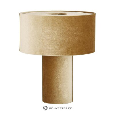 Beige velvet table lamp (frida) (in box, whole)