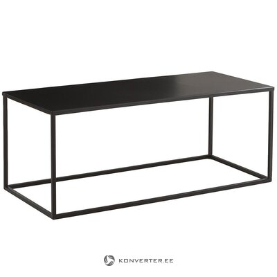 Black metal coffee table (stina) (with defects., Hall sample)