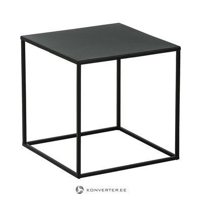 Black metal coffee table (stina) (whole, in a box)