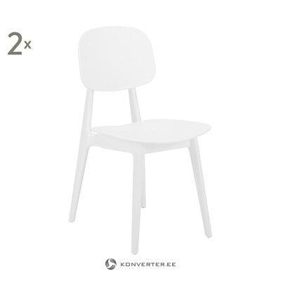 Valkoinen tuoli (smilla) (kauneusvirheillä., Hall-näyte)