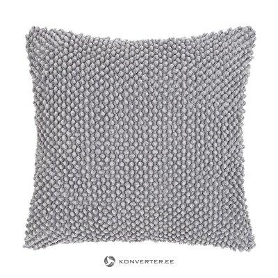 Šviesiai pilka dekoratyvinė pagalvės užvalkalas (indi) (visas, dėžutėje)
